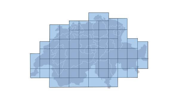 Die Schweiz beispielhaft aufgeteilt in Micro Grids