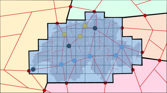Verbindung des Höchstspannungsnetzes mit allen Micro Grids