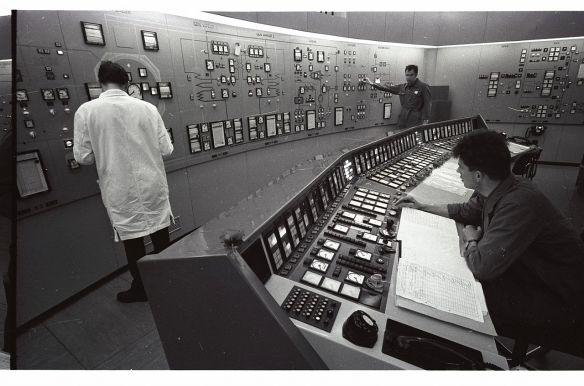Leitstand Atomkraftwerk Lucens Schweiz